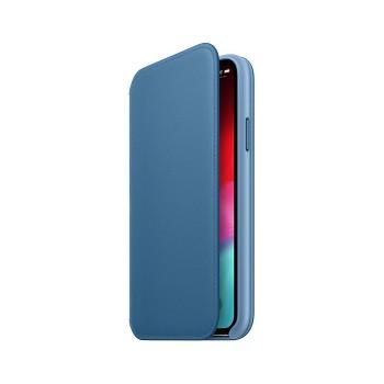 Θήκη Σιλικόνης Apple® Leather Folio για Apple iPhone XS Max - Cod Blue