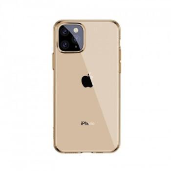 Θήκη Σιλικόνης Baseus Simplicity Protective Case  για Apple Phone 11 Pro Max- Διάφανη χρυσή