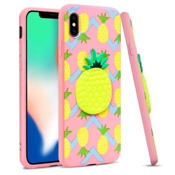 Θήκη Σιλικόνης Imak Stereoscopic για Apple iPhone XS/iPhone X - Pineapple
