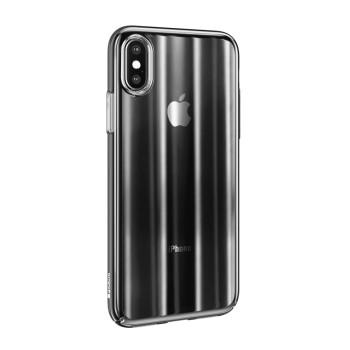 Σκληρή Θήκη Baseus Aurora για Apple iPhone XS Max - Διάφανο Μαύρο