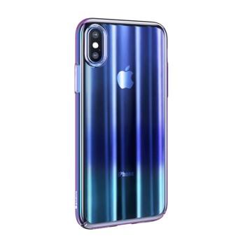 Σκληρή Θήκη Baseus Aurora για Apple iPhone XS Max - Διάφανο Μπλε