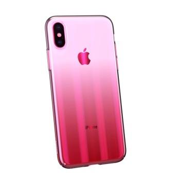 Σκληρή Θήκη Baseus Aurora για Apple iPhone XS Max - Διάφανο Ροζ