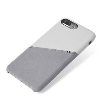 Σκληρή Θήκη Decoded Δερμάτινη για Apple iPhone 8 Plus/7 Plus/6S Plus/6 Plus - White/Grey