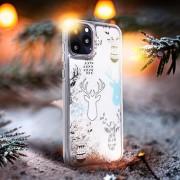 Θήκη Forcell Reindeers για Xiaomi Redmi Note 8 Pro - Διάφανη