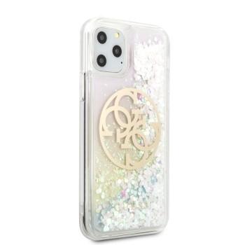Σκληρή Θήκη Guess Glitter Circle Back Cover για Apple  iPhone 11 Pro Max - Gradient  (Gold logo)