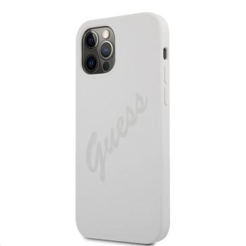 Θήκη Σιλικόνης Guess® Vintage Cover για Apple iPhone 12/12 Pro  - Cream