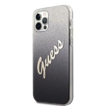 Σκληρή Θήκη Guess PC / TPU Vintage Back Cover για Apple  iPhone 12 Pro Max - Gradient Black