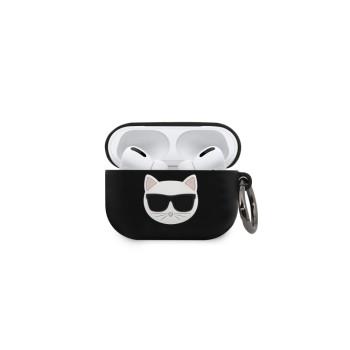 Θήκη Σιλικόνης Karl Lagerfeld® Choupette για Apple AirPods Pro - Black