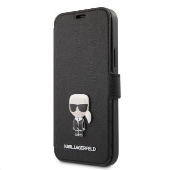 Θήκη Πορτοφόλι Karl Lagerfeld® Saffiano Iconic για Apple iPhone 12/12 Pro - Black