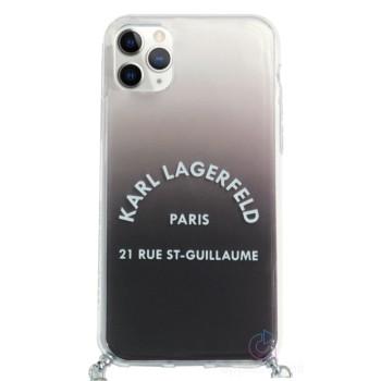 Karl Lagerfeld St. Guillaume Θήκη Με Λουράκι για τη Μέση για iPhone 11 Pro Max - Gradient