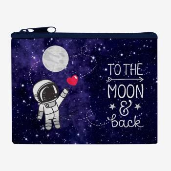 Τσαντάκι Legami Zipper Funky Collection - To The Moon