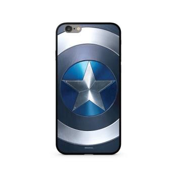 Σκληρή Θήκη Marvel® Captain America 027 Premium Glass για Apple iPhone XS/X - Blue