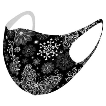 Υφασμάτινη Μασκα Christmas  - Black