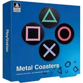 Σουβέρ Paladone Playstation Metal Coasters (4τμχ) - Black