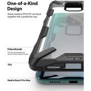 Σκληρή Θήκη Ringke® Fusion X για Xiaomi Redmi Note 9S/9 Pro/9 Pro Max - Black