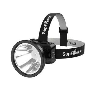 Φακός Κεφαλής Superfire HL51, USB, 160lm, 300m - Black