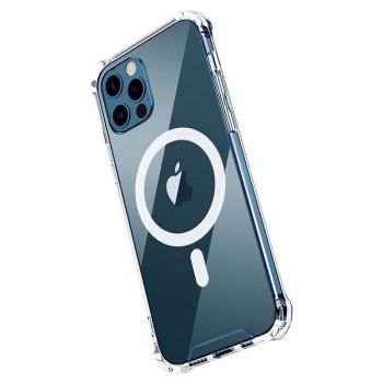 Θήκη Σιλικόνης OEM (MagSafe) για iPhone 12 Pro - Διάφανο