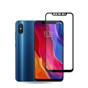 Tempered Glass Amorus Full Cover Full Glue Silk Print 9H για Xiaomi Mi 8 Explorer